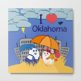 Ernest and Coraline | I love Oklahoma Metal Print