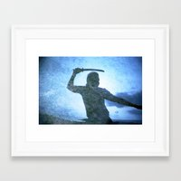 samurai Framed Art Prints featuring Samurai by Deprofundis