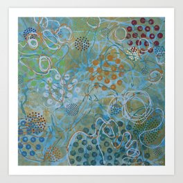 Psychedelic Sea Art Print