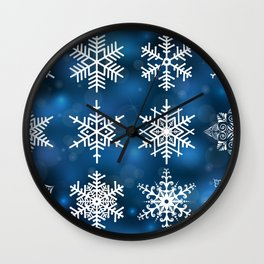 Snowflake collection Wall Clock