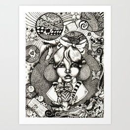 Alice Dreams Art Print