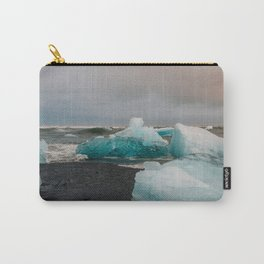Sunset at the Glacier Lagoon in Iceland Carry-All Pouch