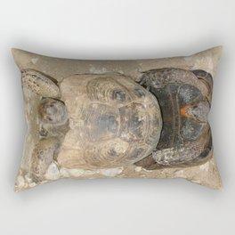Humorous Mating Tortoises Rectangular Pillow