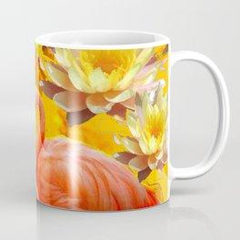 YELLOW WATER LILIES & SAFFRON FLAMINGOS Coffee Mug