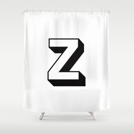 Letter Z ... As Easy As ... Shower Curtain