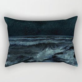 The Sea and the Night Rectangular Pillow