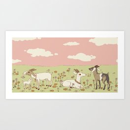 goat field Art Print