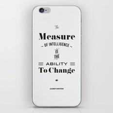 Einstein Quote, words of wisdom iPhone & iPod Skin