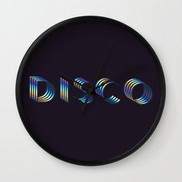 DISCO #society6artprint #decor #disco Wall Clock