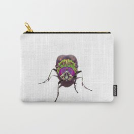 Purple Green Pschedelic Fly Carry-All Pouch