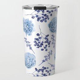 Sky Blue Roses Travel Mug