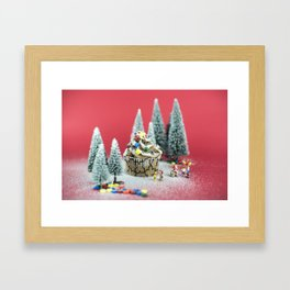 Christmas cupcake Framed Art Print