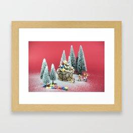 Christmas cupcake Framed Art Print