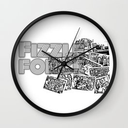 Fizzle Force Photocopy Wall Clock