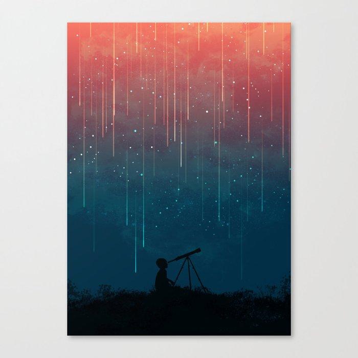 Meteor rain Leinwanddruck