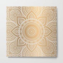 Gold Mandala 3 Metal Print