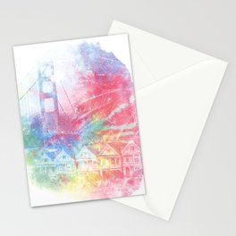 Double Rainbow Stationery Cards