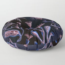 Ode to Haeckel's Deep Dark World Under the Sea Floor Pillow