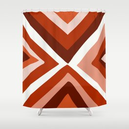 Abstract triangle geometric artwork in Autumn Colors Shower Curtain