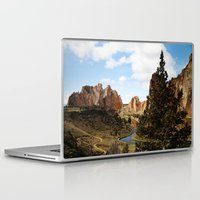 melissa smith Laptop & iPad Skins featuring Smith Rock by Sylvia Cook Photography