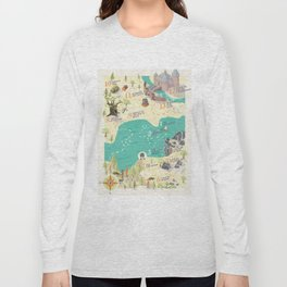Princess Bride Discovery Map Long Sleeve T-shirt