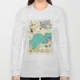 Princess Bride Discovery Map Long Sleeve T-shirt