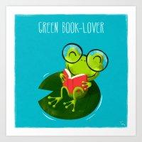 Green Book-Lover Art Print
