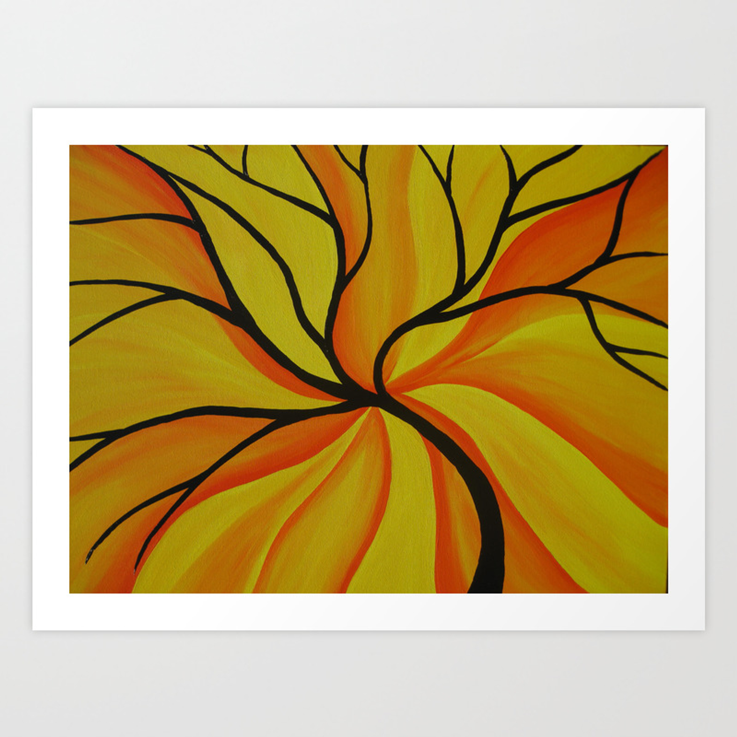 Yellow And Orange Tree Of Life Art Design Print Trees Happy Colorful Bright Painting Print Sunny Art Print By Cathyjacobs Society6