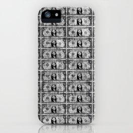 Blk One Dollar iPhone Case