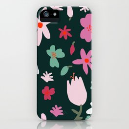 Handmade Out In the Forest Floral Patter iPhone Case
