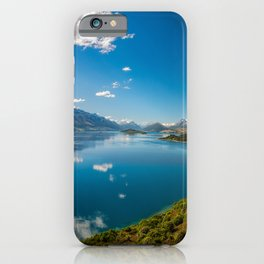 Breathtaking View from a famous scenic Lookout at Lake Wakatipu iPhone Case