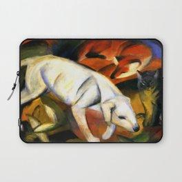 "Franz Marc ""Three animals (dog, fox and cat)"" Laptop Sleeve"