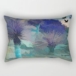 TheDesert blue -By Sherri Of Palm Springs Rectangular Pillow