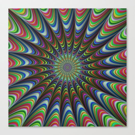 Psychedelic star Canvas Print
