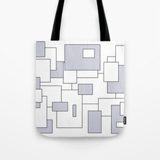 Squares - gray and white. Tote Bag