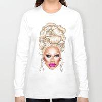 rupaul Long Sleeve T-shirts featuring RuPaul Blonde  by dannydax