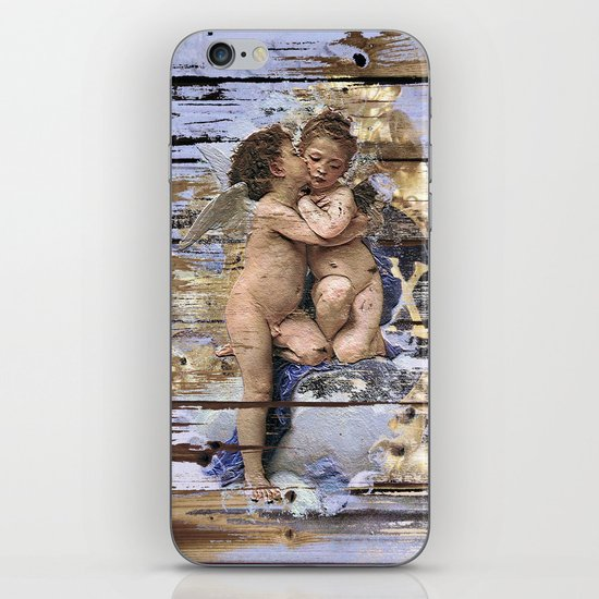 Kissing for Peace iPhone & iPod Skin
