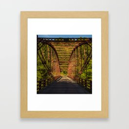 The Old Iron Bridge Framed Art Print