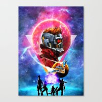 guardians of the galaxy Canvas Prints featuring Guardians of the Galaxy by Alfredo Roagui