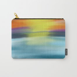 Tropical Ocean Sunset Watercolor Carry-All Pouch