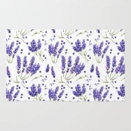 Lavender Purple Dream Watercolor Pattern Rug