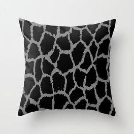 Spot Pattern Grey Black Speckled Throw Pillow