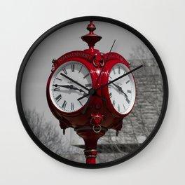 Red Clock Wall Clock