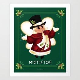 Christmas Mistletoe Art Print