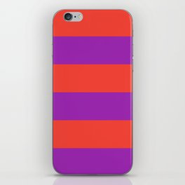 Even Horizontal Stripes, Red and Purple, XL iPhone Skin