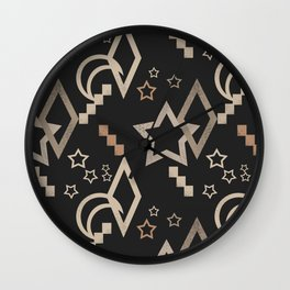 Geometric abstract pattern . Star grunge . Wall Clock