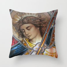 Angel in Glass Throw Pillow