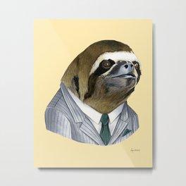 Sloth print Metal Print