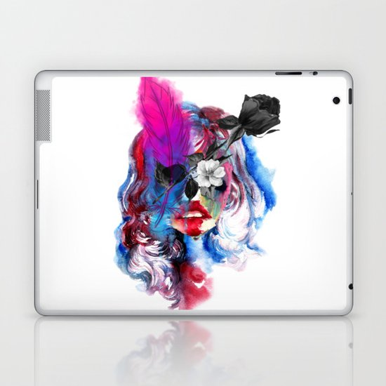 Skull Girl Laptop & iPad Skin