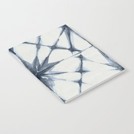 Shibori Starburst Indigo Blue on Lunar Gray Notebook